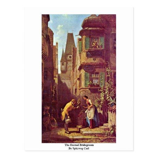 The Eternal Bridegroom By Spitzweg Carl Post Card