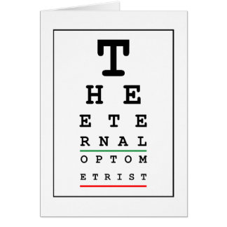 The Eternal Optometrist (Birthday) Card