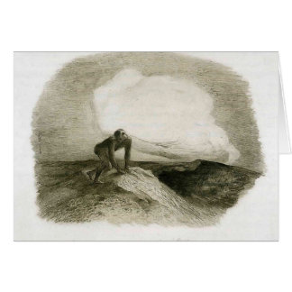 The eternal silence frightens me by Odilon Redon Cards