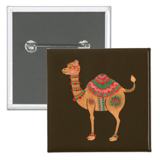 The Ethnic Camel 15 Cm Square Badge
