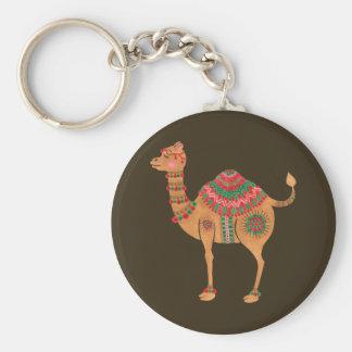 The Ethnic Camel Basic Round Button Key Ring