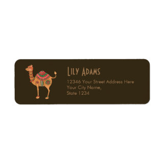 The Ethnic Camel Return Address Label