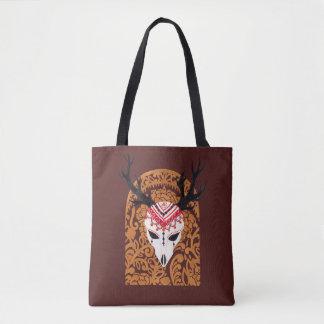 The Ethnic Deer Head Tote Bag