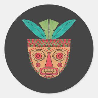 The Ethnic Mask Round Sticker