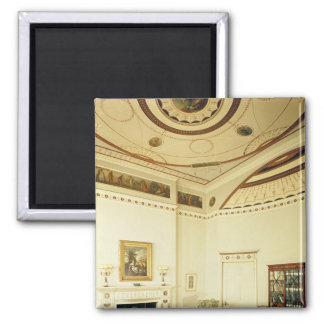 The Etruscan Room designed by Robert Adam Square Magnet