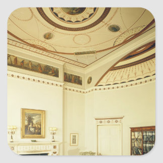 The Etruscan Room designed by Robert Adam Square Sticker