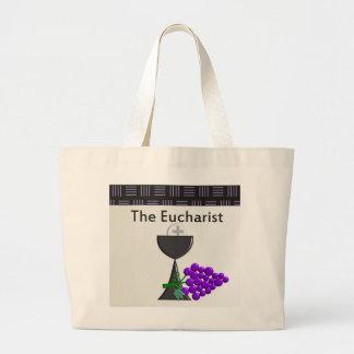 The Eucharist Chalice and Grapes Design Tote Bag