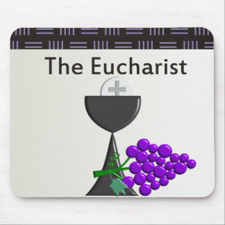 The Eucharist Chalice and Grapes Design Mouse Pad