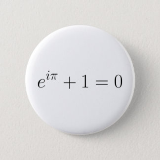 The Euler formula 6 Cm Round Badge