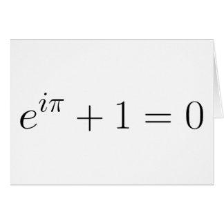 The Euler formula Card