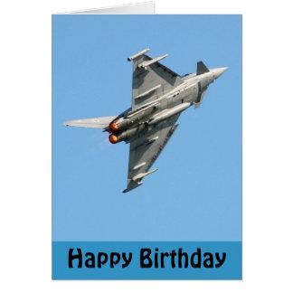 The Eurofighter Typhoon Happy Birthday Greeting Card