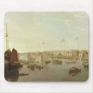 The European Factories, Canton, 1806 (oil on canva Mouse Pad