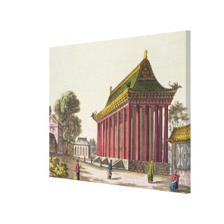 The 'European Palace' at Yuen-Ming-Yuan, illustrat Canvas Print