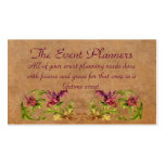 The Event Planners Profile Card Business Card