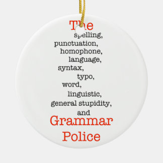 The Everything Police Christmas Ornament