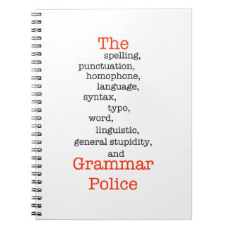 The Everything Police Spiral Notebook