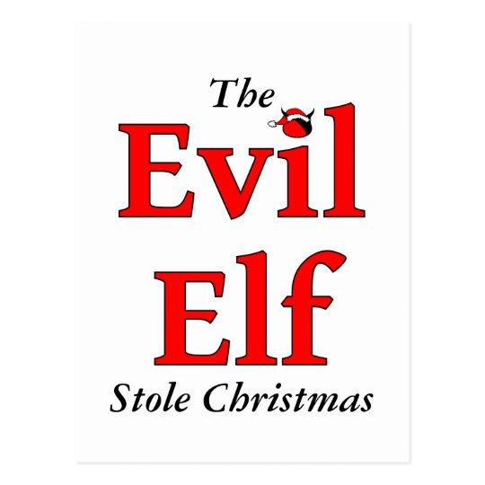 The Evil Elf Stole Christmas Postcard