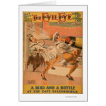 "The Evil Eye ""A Bird & a Bottle"" Theatre Greeting Card"