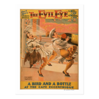 "The Evil Eye ""A Bird & a Bottle"" Theatre Postcard"