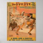 "The Evil Eye ""A Bird & a Bottle"" Theatre Poster"