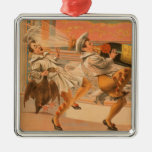 """The Evil Eye """"A Bird & a Bottle"""" Theatre Silver-Colored Square Decoration"""
