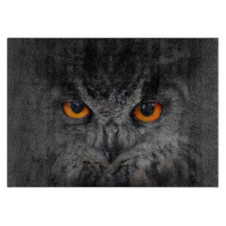 The Evil Eyes. ( Eagle Owl, Bubo Bubo) Cutting Board