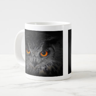 The Evil Eyes. ( Eagle Owl, Bubo Bubo) Jumbo Mug