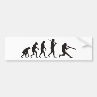 The Evolution Of Baseball Batter Bumper Sticker