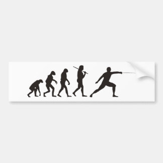 The Evolution Of Fencing Bumper Sticker