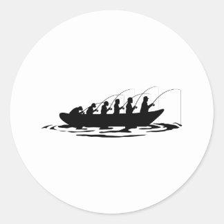 The Evolution Of Fisherman Round Sticker