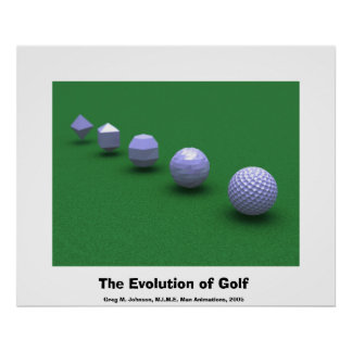 The Evolution of Golf Poster