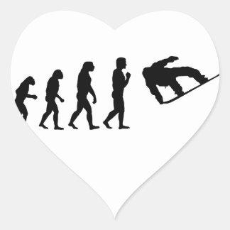 The Evolution Snowboarding Heart Sticker