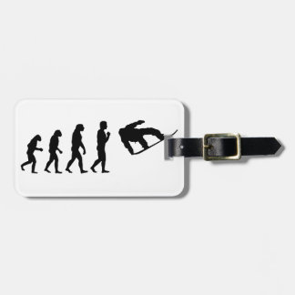 The Evolution Snowboarding Luggage Tag