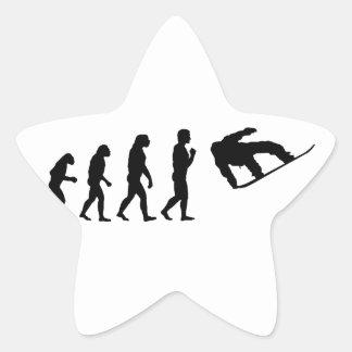 The Evolution Snowboarding Star Sticker