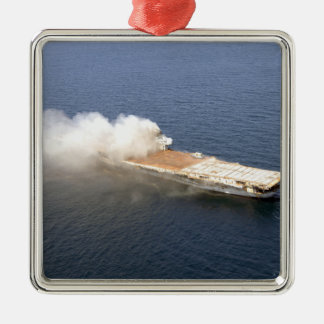 The ex-Oriskany, a decommissioned aircraft carr Christmas Ornament