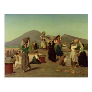 The Excavations at Pompeii, 1865 Postcard