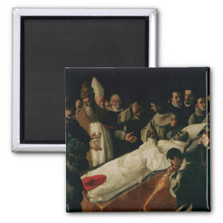 The Exhibition of the Body of St. Bonaventure Square Magnet