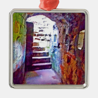 The Exit Silver-Colored Square Decoration
