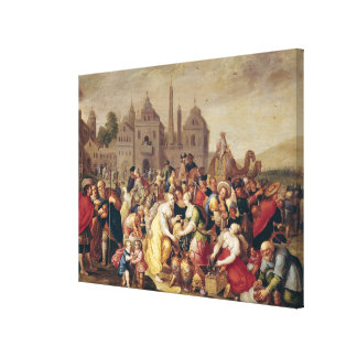 The Exodus or The Vases of the Egyptians Canvas Print