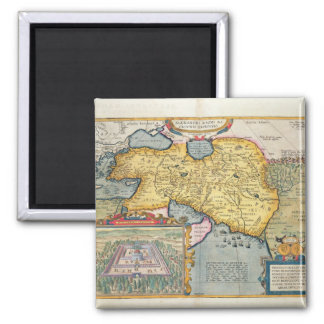 The Expedition of Alexander the Great Square Magnet