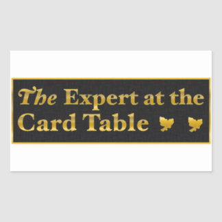 The expert AT the card table to sticker (Black)