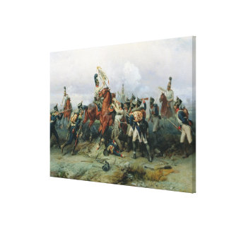 The Exploit of the Mounted Regiment Canvas Print