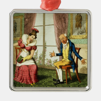 The Expostulation, pub. by G. Humphrey, 1821 (colo Christmas Ornament