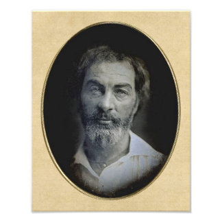 The Expression in Your Eyes: Walt Whitman, Age 35 Photo Art