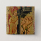 The Expulsion from the Garden of Paradise 15 Cm Square Badge