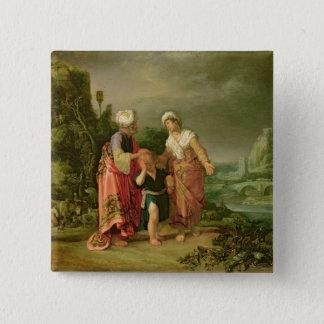 The Expulsion of Hagar, 1612 15 Cm Square Badge