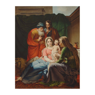 THE Extended Holy Family. Wood Print