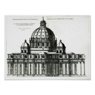 The Exterior of St. Peter's Basilica in Rome Poster