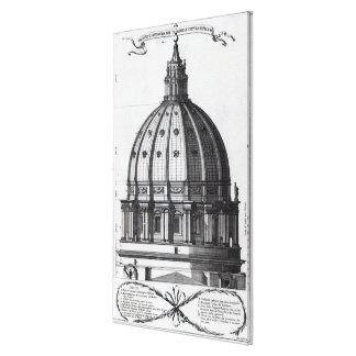 The exterior of the dome of St. Peter's, Rome Canvas Print