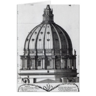 The exterior of the dome of St. Peter's, Rome Card